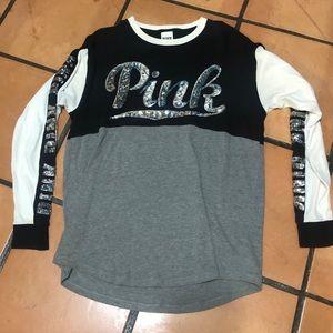 PINK long sleeve bling shirt